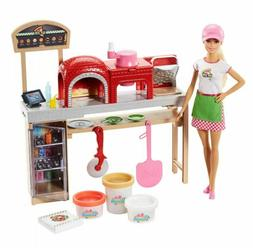 Mattel Barbie Pizza Chef Doll and Playset - New