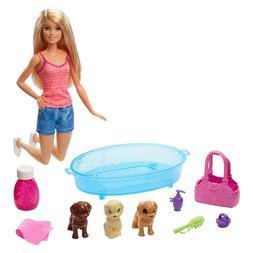 Barbie Puppy Bath Time Doll Playset