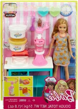 Barbie Sisters Stacie Doll Breakfast Playset Dough and Waffl