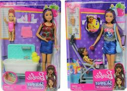 BARBIE SKIPPER BABYSITTERS INC DOLLS BATH TIME BATHTUB RUBBE
