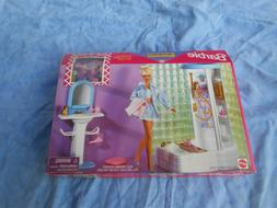 BARBIE SO REAL SO NOW BATHROOM PLAYSET 1998