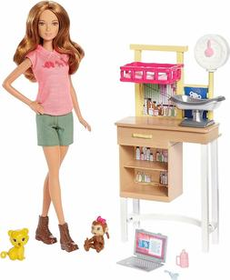 Barbie Zoo Care Giver Doctor Vet Veterinarian Play Set Doll