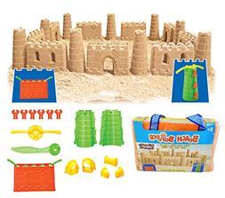 Beach Builder Create-A-Sand Castle Building Kit for Kids  Ki