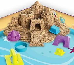 Kinetic Sand Beach Day Fun Playset w/ Castle Molds Tools 12