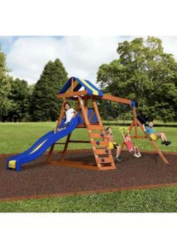 Big Backyard Dayton Wooden Cedar Swing Set Outdoor Playgroun