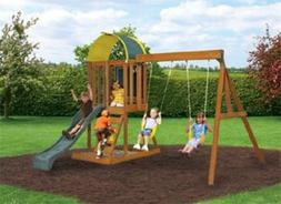 Big Backyard KidKraft Andorra Cedar Wood Swing Set / Playset