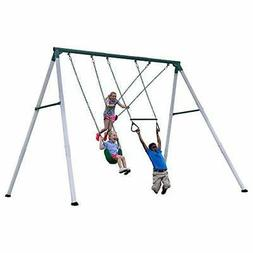 Backyard Discovery Big Brutus Heavy Duty Metal Swing Set, Wh