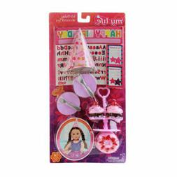 My Life As Birthday Accessories Play Set for 18 Inch Dolls H