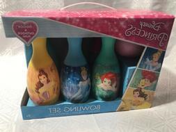 Bowling Play Set Disney Princess Kids 6 Pins 1 Ball Toy Birt