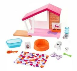 Brand New Barbie Doll Indoor Furniture Pet Puppy Dog House &