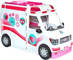 Brand New Barbie Care Clinic Vehicle Ambulance Vehicle and H