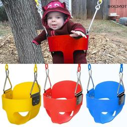 """Bucket Toddler Swing Seat Set With 58"""" Steel Chain for Playg"""