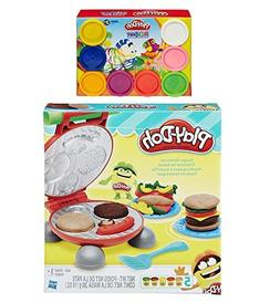 Play-Doh Burger Barbecue Play Set + Play-Doh Rainbow Starter