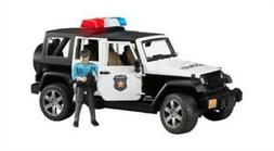BRUDER BWORLD 02526 JEEP RUBICON POLICE CAR WITH POLICE MAN