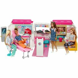 Barbie Care Clinic Ambulance 2-In-1 Playset With Accessories