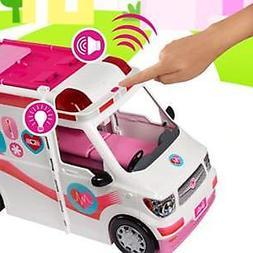 Barbie Care Clinic Ambulance Vehicle Hospital Playset with 2