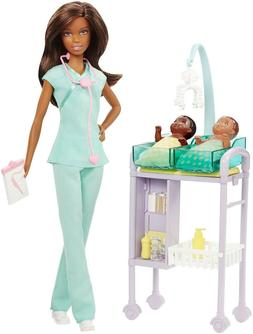 Barbie Careers Baby Doctor Doll Playset, Brunette