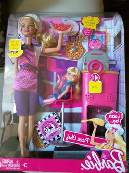 Barbie Careers Set, Pizza Chef Doll, Baby, Kitchen And Plays