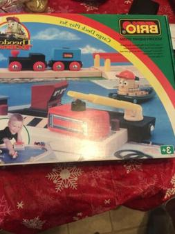Brio Cargo Dock Play Set 32750 Toy with Accessories and Wood