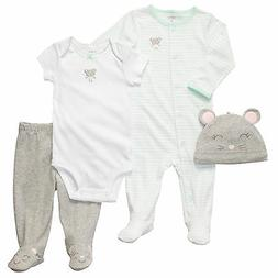 Carters 6 9 Months Mouse Sleep & Play Gift Set Baby Girl Clo