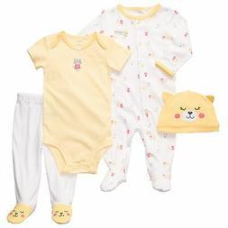Carters 6 Months Kitty Sleep & Play Pajama Bodysuit Pant Set