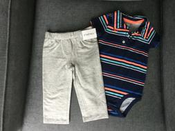 Carters boys two pieces play set in size 9 months