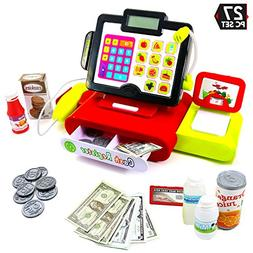 Big Mo's Toys 27 Piece Cash Register Set with Pretend Play F