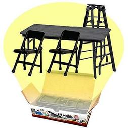 Categories ULTIMATE Ladder, Table & Chairs Black Playset For