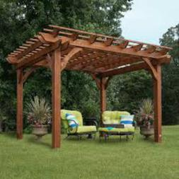 Cedar 12 Ft. W x 10 Ft. D Pergola by Backyard Discovery of C