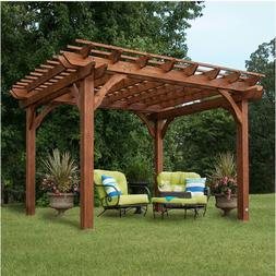 Backyard Discovery Cedar Pergola 10' x 12' Outdoor Wood Pati