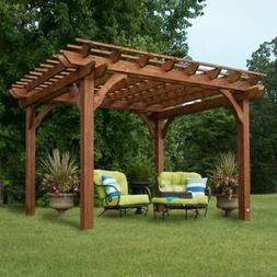 Backyard Discovery 12' x 10' Cedar Pergola Brown