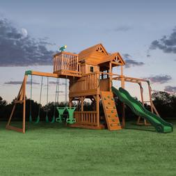 Cedar Swing Set/Play Set Playground Large clubhouse Multiple