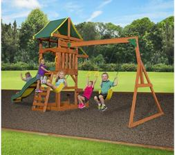 Backyard Discovery Cedar Swing set Playground Outdoor Playse