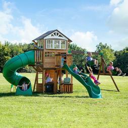 Backyard Discovery Cedar Swing Set Playset Playground Wood T