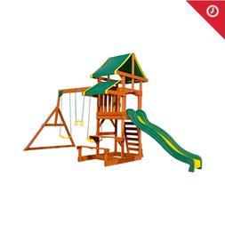 Cedar Wooden Swing Set Bug Big Large Swing Set Log Best Back