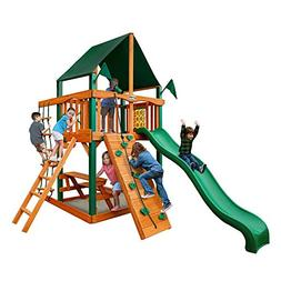 Chateau Tower Swing Set with Sunbrella Canvas Canopy