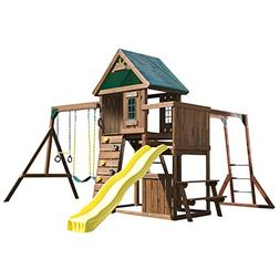 Swing-N-Slide Chesapeake Wood Complete Play Set with Two Swi