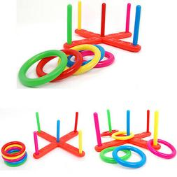 Child Kids Toy Throw Lawn Outdoor Game Hoop Ring Toss Quoits