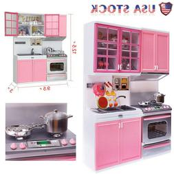Children Kids Kitchen Toy Cooking Pretend Play Set Toddler P