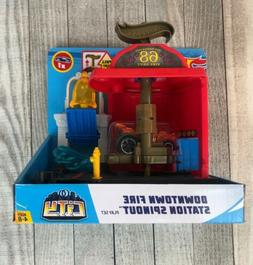 Hot Wheels City Downtown Fire Station Spinout Play Set Ages