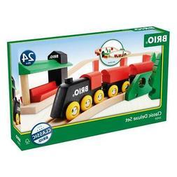Brio Classic Deluxe Set Wooden Train Railway Kids Playing Ga