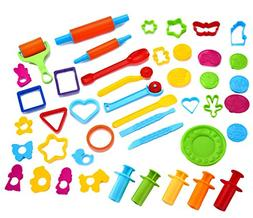 Joyin Toy 44 Pieces Clay Dough Tools Kit with Models and Mol