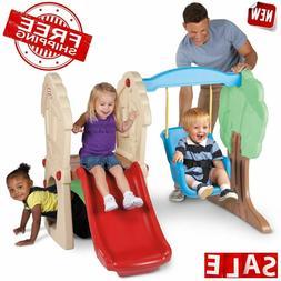 CLIMBER PLAYGROUND SWING SET Kids Plastic Playset Home Gym I