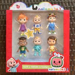 Cocomelon Family & Friends 6 Pack Figure Play Set JJ Netflix