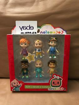 Cocomelon Family & Friends 6 Pack Figure Play Set JJ Netflix