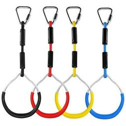 Colorful Swing Gymnastic Rings Outdoor Play Sets Playground