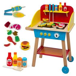 Cook 'N Grill Wood BBQ Set - Includes Over 30 Pcs of Wooden