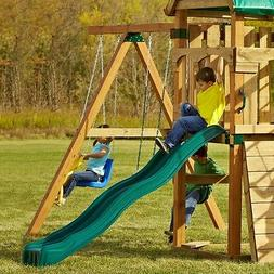 Cool Wave Slide Kids Backyard Playset 80 in Garden Playgroun