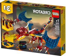 Lego Creator 3in1 31102 Ninja Fire Dragon Adventures New Bui