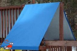 CUSTOM SIZE PLAYSET CANOPY/TARP ~BLUE, up to 12FT LG - Outdo
